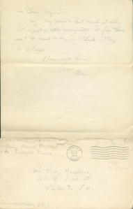 July 13 1944 page 2 and envelope to dad