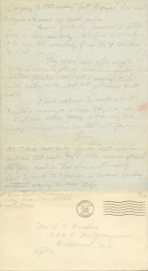 July 26 1944 pg 2 and envelope