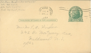 July 3 1944 front of postcard