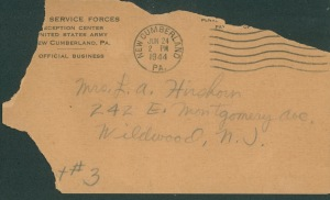 June 23 1944 official postcard front
