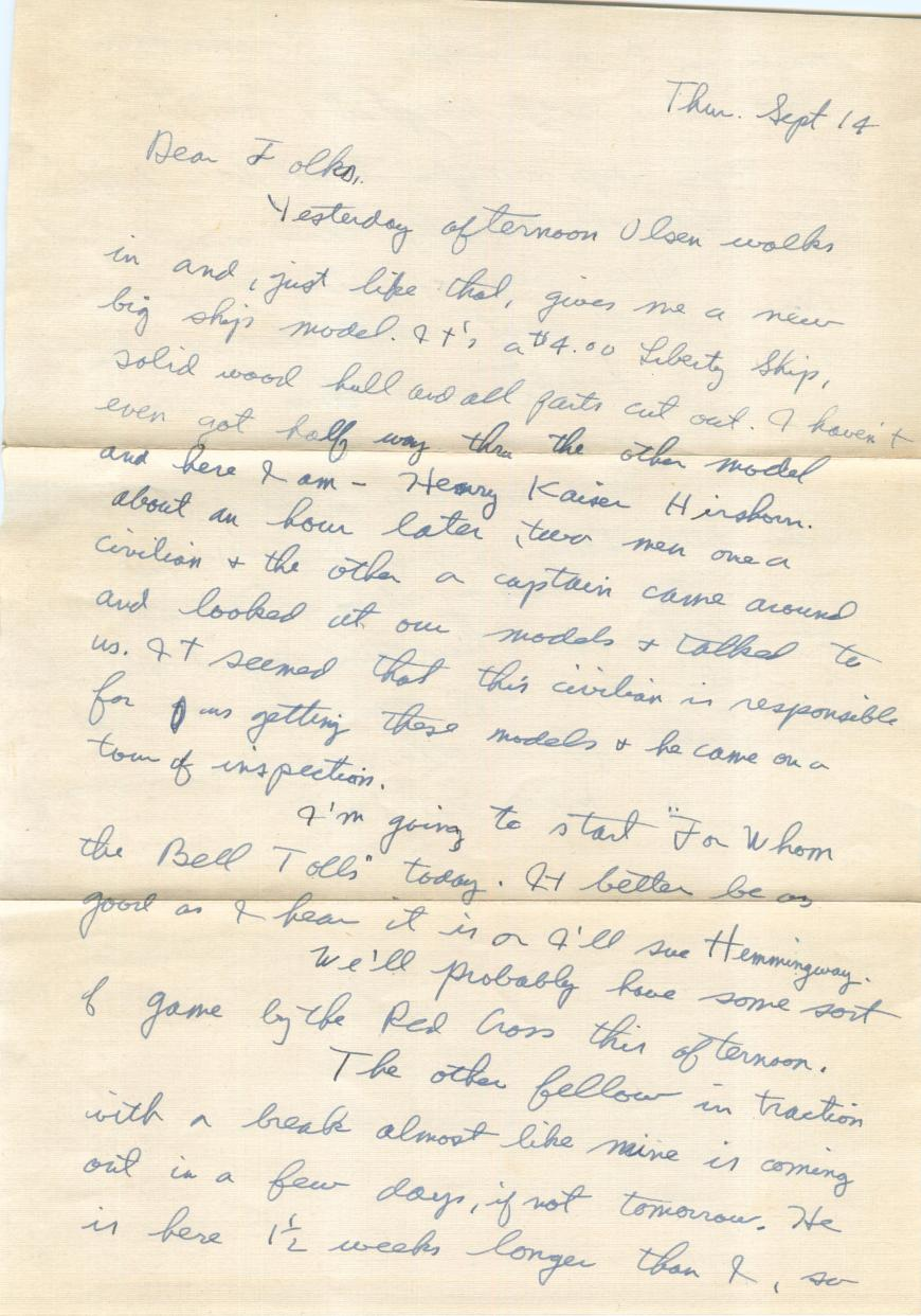Evidence of a litigious society, even in 1944 - Bruce threatens to sue Hemmingway