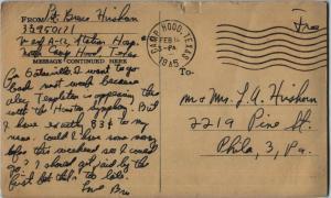 Feb 19 1945 pstcrd side 2